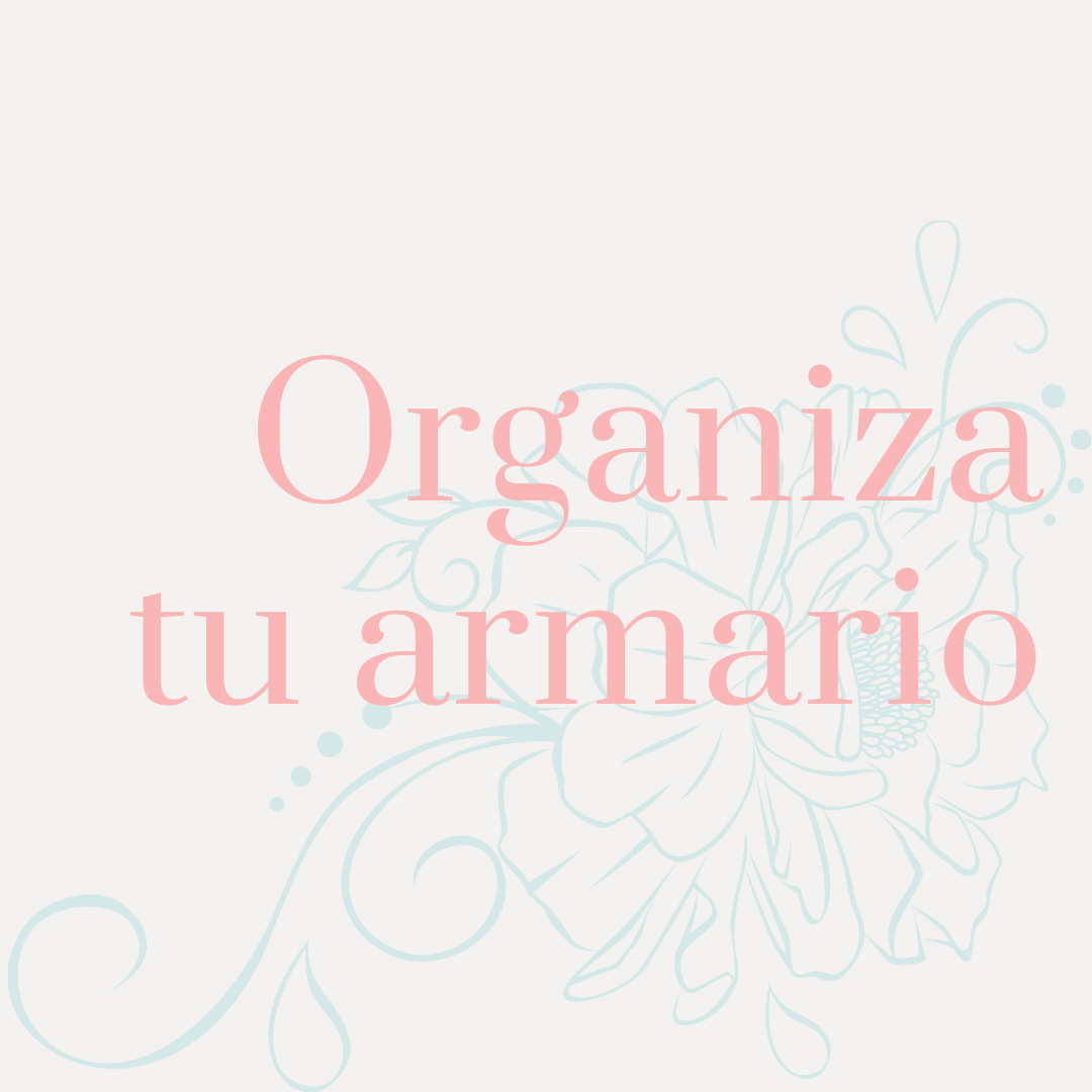 organiza tu armario con Virginia Marín